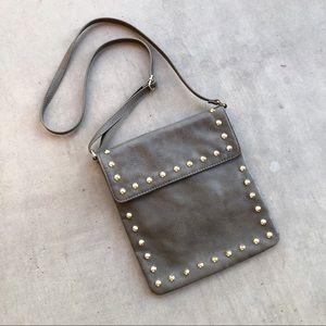 LP BLUE LINEA PELLE Olive Faux Leather Studded Bag